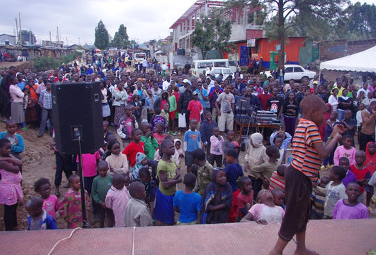 Kibera Community Film Screening honoring Mandela