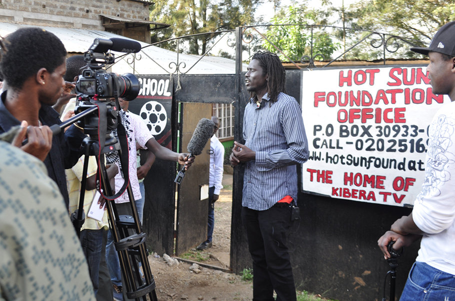 Filming Emmanuel Jal at Hot Sun Foundation