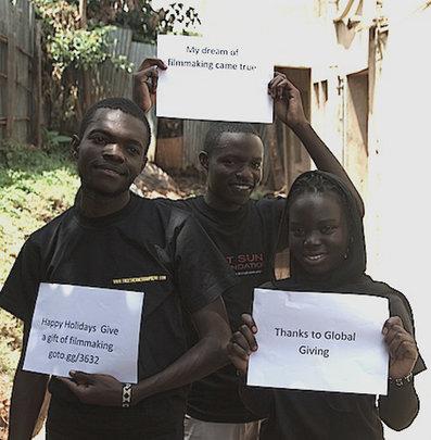 Happy Holidays from Kibera Film School trainees