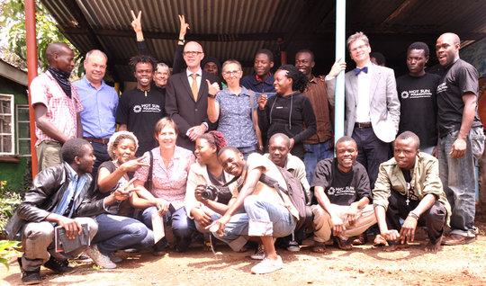 Visit by Belgian Ambassador to Hot Sun Foundation