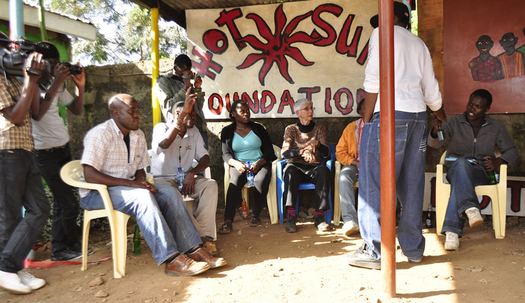 Meeting with Emmanuel Jal at Hot Sun Foundation