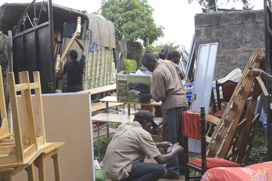 Hot Sun Foundation loading truck for move