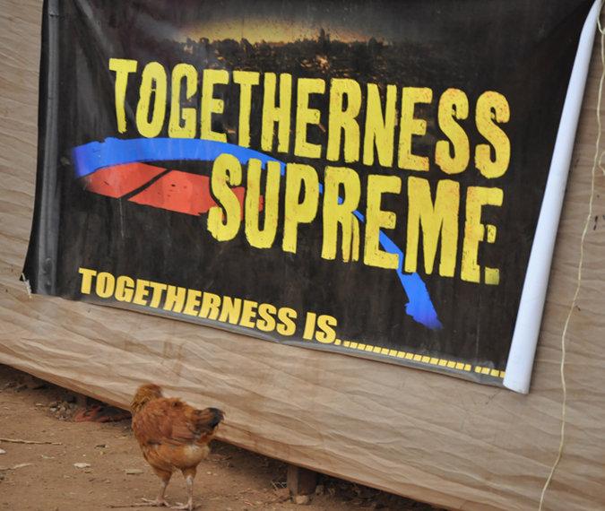 TOGETHERNESS SUPREME banner at Slum Film Festival