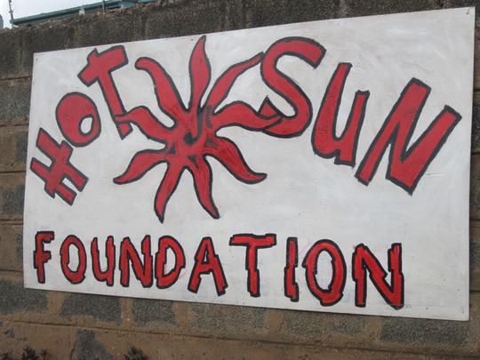 Entrance to Hot Sun Foundation office in KIBERA