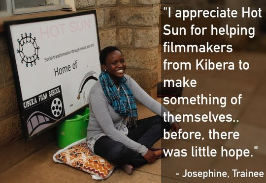Josephine, a trainee at Hot Sun Foundation