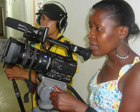 Young women in Nairobi learn camera skills