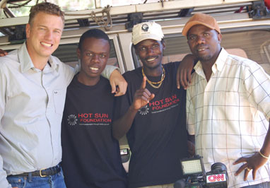 CNN David MacKenzie with Kibera Film School trainees