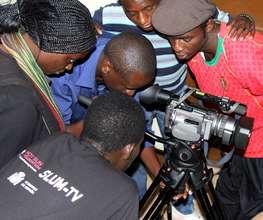 David with other Kibera Film School trainees
