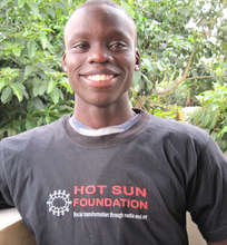 Grishon Onyango at the Hot Sun Foundation office