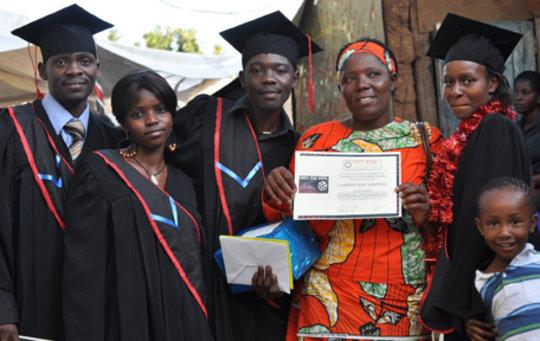 Trainees at Kibera Film School Graduation
