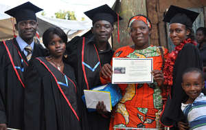 Trainees at Kibera Film School Graduation