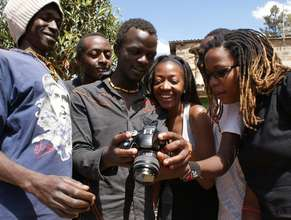 Noreen (at right) with Kibera Film School trainees