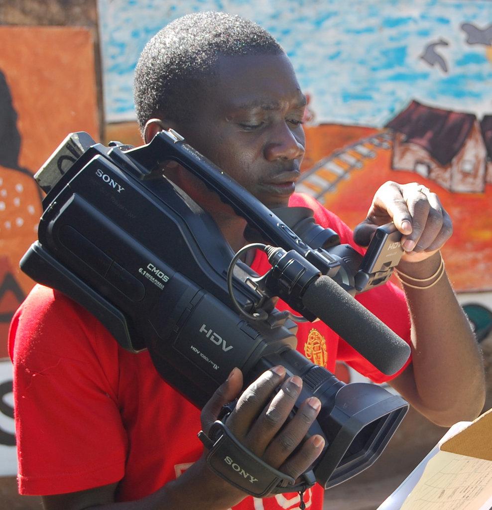 Victor Oluoch shooting a short film