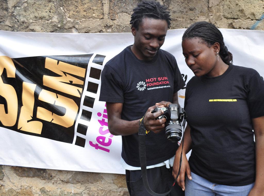Francis and Dorcas, Kibera Film School trainees