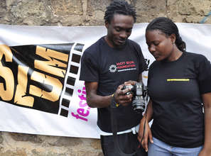 Francis and Dorcas, Kibera Film School trainees