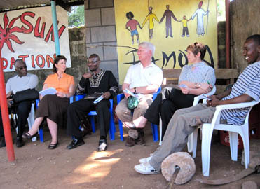 University of Minnesota officials visit Kibera