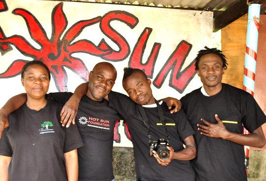 Ronald with other Kibera Film School trainees
