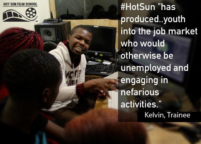 Kelvin, trainee at Hot Sun Foundation