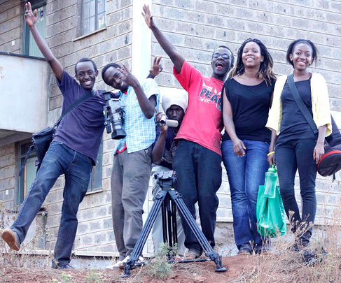 It's a wrap! Kibera Film School trainees