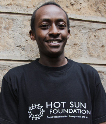 Martin Mwangi, film trainee at Hot Sun Foundation