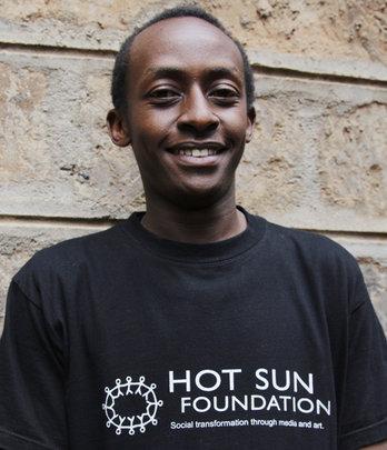 Martin Mwangi, film trainee at Hot Sun Foundation
