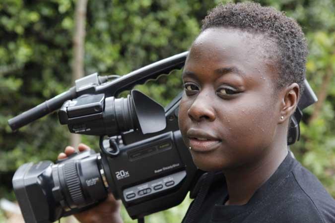 Audrey, trainee at Kibera Film School