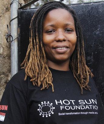 Noreen Kombo, film trainee Hot Sun Foundation