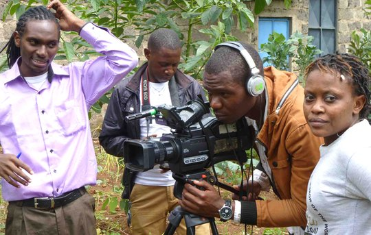 Sammy with other Hot Sun Film School trainees