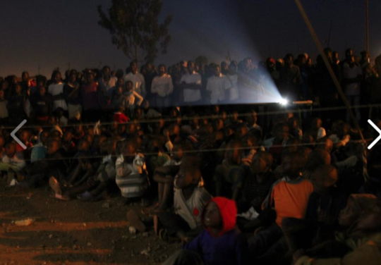 Community screening at Slum Film Festival Nairobi