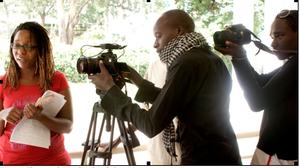 Kibera Film School trainees at Liquid Arts