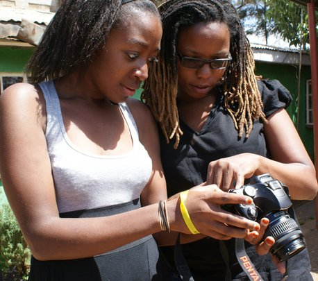 Shirley and Noreen, trainees at Hot Sun Foundation
