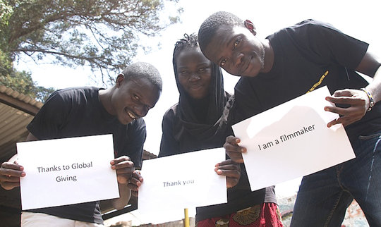 Matthew, Saumu and Daudi, Kibera Film School