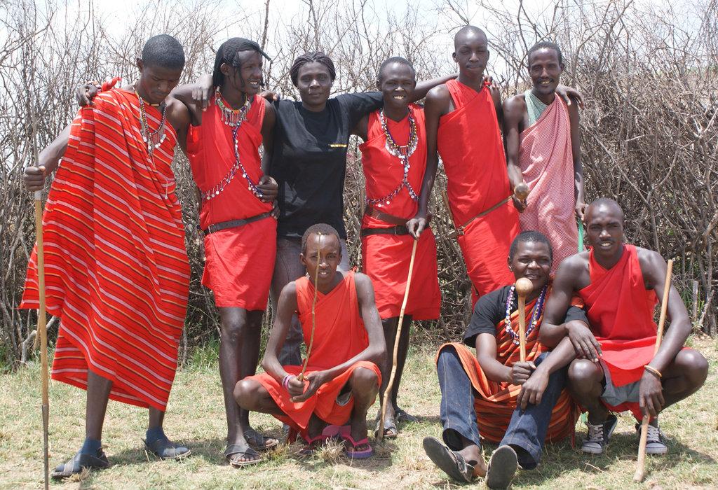 Kibera Film School with Masai friends