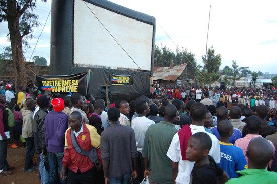 Crowd gathering for TOGETHERNESS SUPREME in Kibera