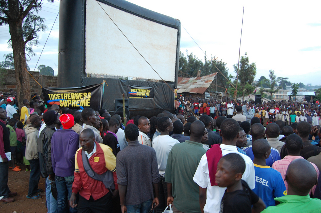 Crowd gathering for TOGETHERNESS SUPREME in Kibera