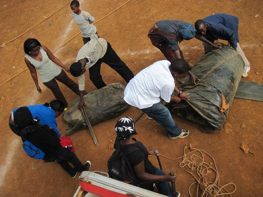 Kibera youth setting up for TOGETHERNESS SUPREME