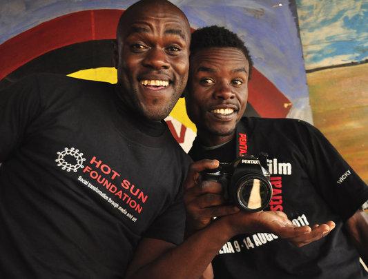 Kibera Film School trainees, Polycap and Felix