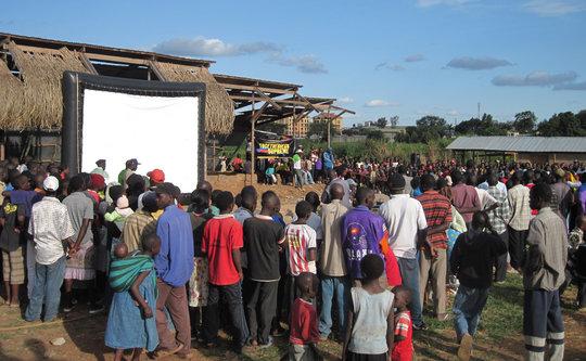 Open Air Screening in Kibera