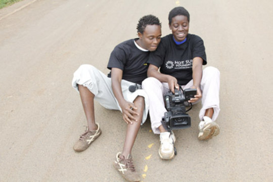 Mathew and Rebecca, Kibera Film School trainees
