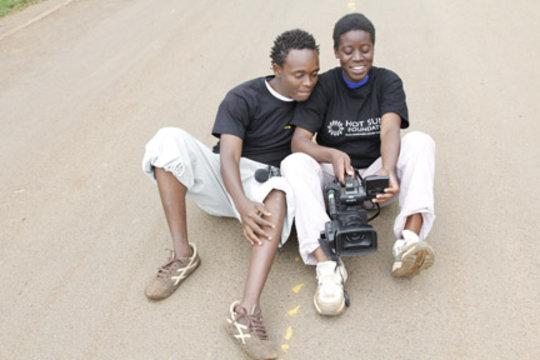 Mathew and Rebecca, Kibera Film School trainees