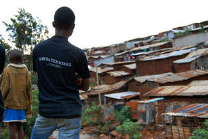 Kibera Film School view of our slum home