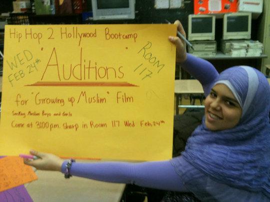Raneem preparing for auditions