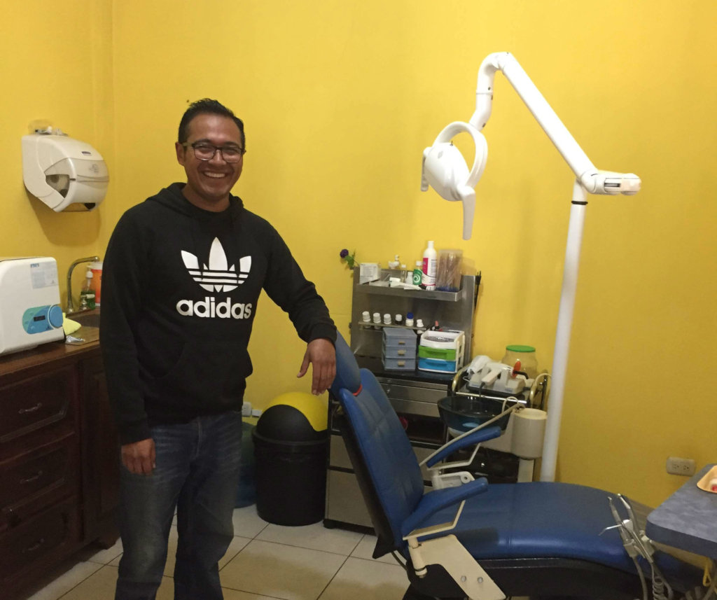 Our new partner, Dr. Alejandro, the local dentist.