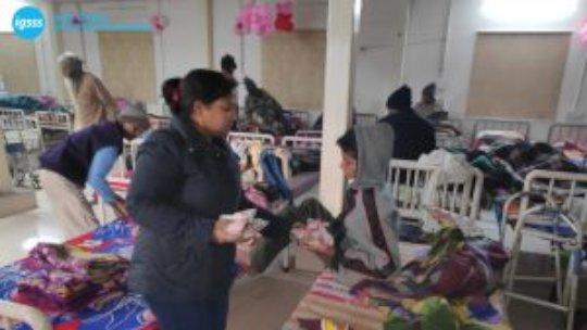 IGSSS Team on Night Vigil at a Shelter Home