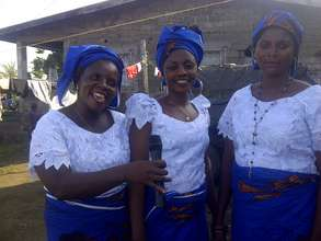 A group of 3 women on October 11, 2014 in Buea