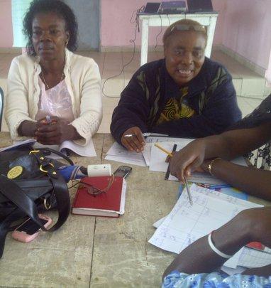 Womem help women on followup in Buea