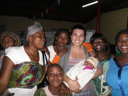 Johanna and some of the teen mothers and children