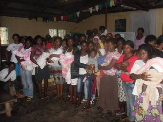Teen mothers after Meeting with SDI staff in Tole