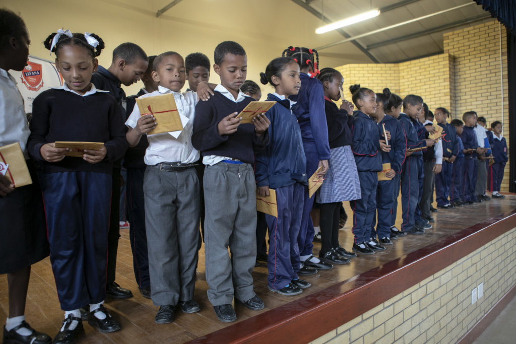 Khanyisa school Christmas book donation