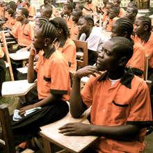 HIGH SCHOOL STUDENTS IN OUTDOOR CLASS